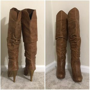 Jessica Simpson leather over the knee boots, 9